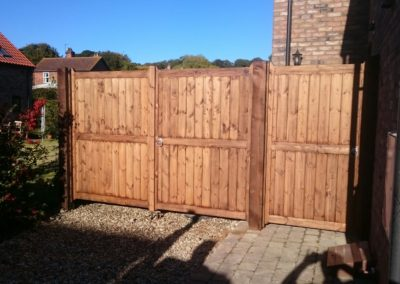 Wooden Drive Gates