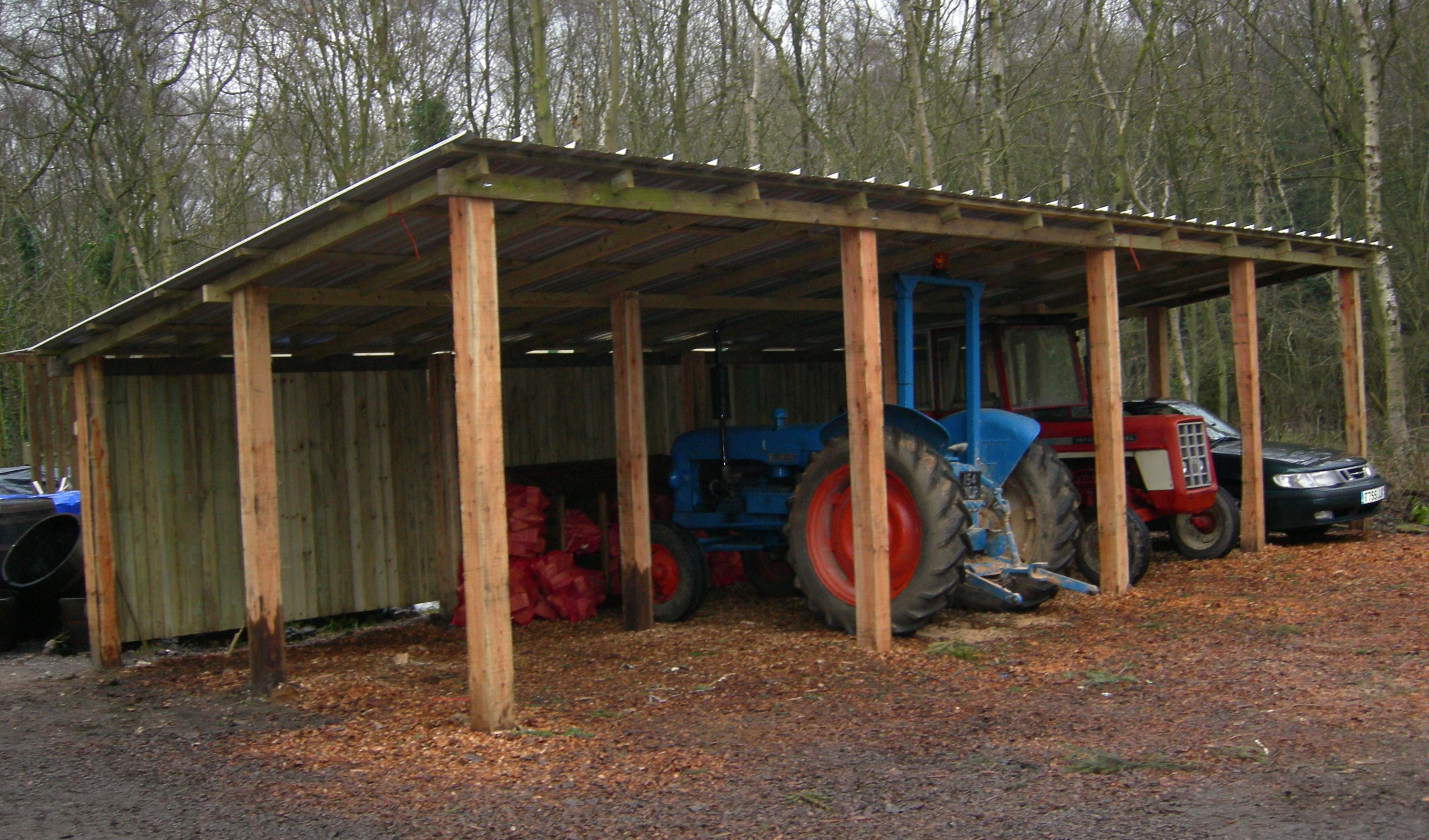 Gallery timber services for Tractor garage plans